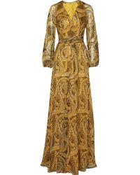Issa Printed Silk-chiffon Dress - Lyst