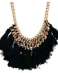 Mango - Chain Tassel Short Necklace - Lyst