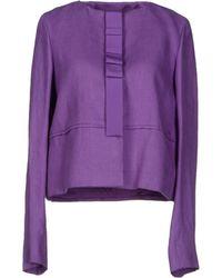 Versace Blazer purple - Lyst