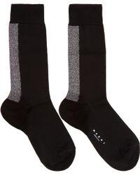 Marni - Black Metalic Stripe Socks - Lyst