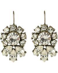 Ben-amun Bridal Crystal Flower Drop Earrings - Lyst