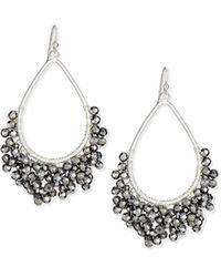 Nakamol Beaded Open Teardrop Earrings - Lyst