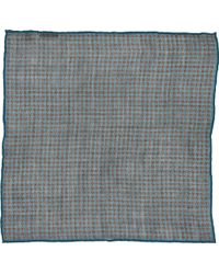 Paolo Albizzati - Houndstooth Pocket Square - Lyst
