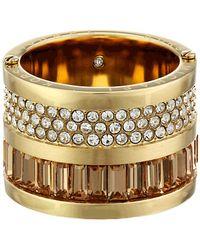 Michael Kors Brilliance Pave  Baguette Barrel Ring - Lyst