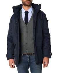 Menlook Label Dick Navy Parka - Lyst