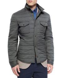 Brunello Cucinelli   Milano Snap-front Shirt Jacket   Lyst