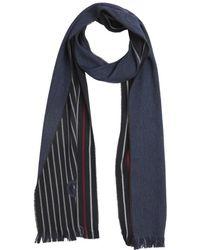 Gucci Navy Cotton Multicolor Striped Accent Scarf - Lyst