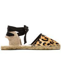 Soludos Classic Leopard Calf Hair Sandal - Lyst