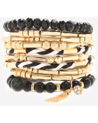Bebe - Beaded Stretch Bracelet Set - Lyst