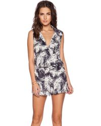Splendid Sleeveless Graphic Romper blue - Lyst