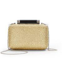 Diane von Furstenberg Tonda Small Crystal Patent Leather Clutch - Lyst