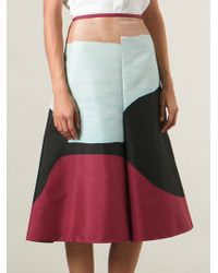 Marni Multicolor Printed Skirt - Lyst