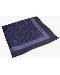 Tateossian - Armenian Patterned Silk Pocket Square In Grey - Lyst