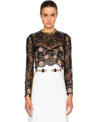 Alessandra Rich | Chantilly Lace Top | Lyst