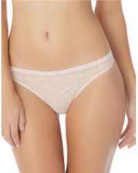 Jessica Simpson Lady In Lace Thong - Natural