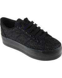 Jeffrey Campbell Zomg Sneakers Glitter Nero Pelle - Lyst