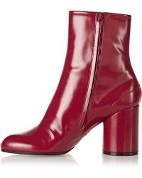 Maison Martin Margiela Polishedleather Ankle Boots - Lyst
