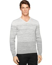 Calvin Klein Silk-Blend Space Dye Sweater gray - Lyst