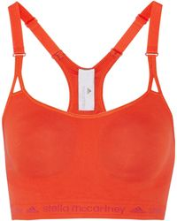 Adidas By Stella Mccartney Essentials Stretch-jersey Sports Bra - Lyst