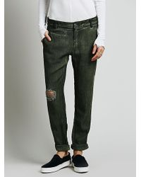 Free People Relaxed Herringbone Chino - Lyst