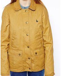 Jack Wills Kendale Wax Jacket - Yellow