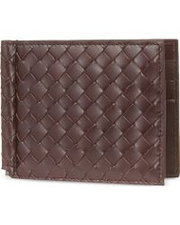 Bottega Veneta Intrecciato Leather Moneyclip - For Women - Lyst