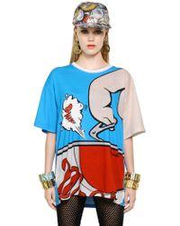 Moschino Oversized Cartoon Printed Cotton T-Shirt - Lyst