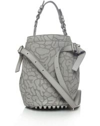 Alexander Wang Small Diego Laser-Cut Pebbled Shoulder Bag - Lyst