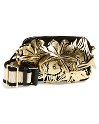 Marni Floral Suede & Leather Fanny Pack - Lyst