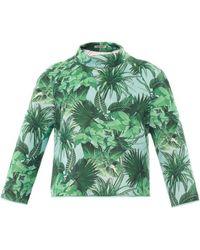 Emma Cook   Tropical-Print Neoprene Sweater   Lyst