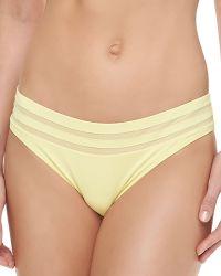 La Perla Mesh-inset Hipster Bottom - Lyst