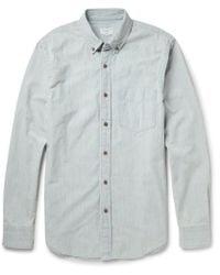 Club Monaco Button-down Collar Cotton-chambray Shirt - Lyst