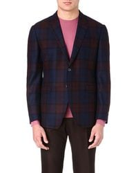 Paul Smith Check-print Tailored Jacket - Lyst