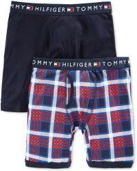 Tommy Hilfiger Mens Colors Cotton Plaid Boxer Briefs 2-pack - Lyst