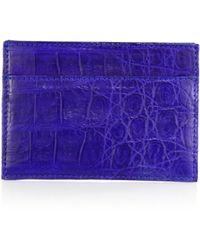 Santiago Gonzalez Crocodile Card Case blue - Lyst