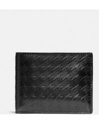 Coach Houndstooth Slim Billfold Id Wallet in Leather - Lyst