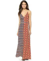 Tigerlily Talamanca Maxi Dress - Patchwork - Red