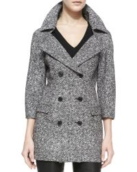 Michael Kors Double-breasted Tweed Jacket - Lyst