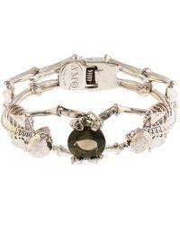 Alexander McQueen Double-Skeleton Crystal Bracelet - Lyst