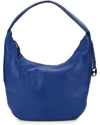 Halston Heritage Textured Leather Shoulder Bag - Lyst