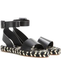 Proenza Schouler Leather Espadrille Sandals - Lyst
