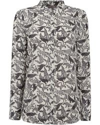 Pied a Terre   Wolf Print Shirt   Lyst