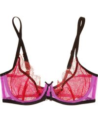 Agent Provocateur Megan Lace and Stretchtulle Plunge Bra - Lyst