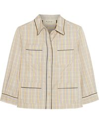 Marni Checked Cotton Shirt - Lyst