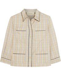 Marni Checked Cotton Shirt - Lyst