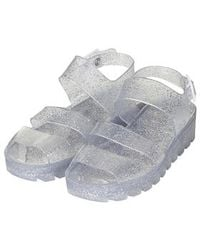 Topshop Poppy Wedge Jelly Sandals By Juju - Lyst