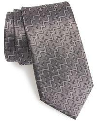 Lanvin Men'S Woven Silk Tie - Grey - Lyst