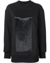 Vera Wang - Cutaway Back Sweatshirt - Lyst
