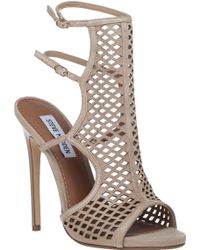 Steve Madden   Mayline Cut-Out Suede Sandals   Lyst