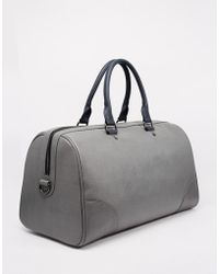 Ted Baker Tweener Holdall With Contrast Detail - Gray